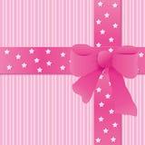 Roze achtergrond met boog Stock Fotografie
