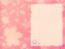 Roze achtergrond met document Royalty-vrije Stock Afbeelding