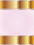 Roze achtergrond met goud Royalty-vrije Stock Afbeelding