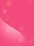 Roze achtergrond met hart royalty-vrije illustratie