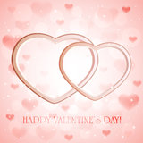 Roze achtergrond met harten Royalty-vrije Stock Foto's