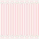 Roze achtergrond met kantgrens Stock Foto's