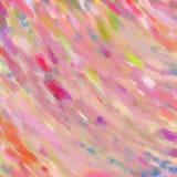 Roze achtergrond met kleurenplonsen in abstract glas geweven patroon Stock Fotografie