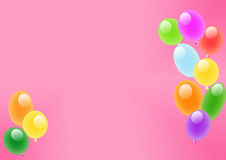 Roze achtergrond met luchtballen Royalty-vrije Stock Afbeelding