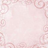 Roze achtergrond met wervelingsgrens Stock Foto