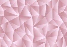 Roze achtergrond in stijl Laag Poly, geometrisch patroon Vector stock illustratie