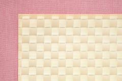 Roze achtergrond - tafelkleedtextuur Stock Afbeeldingen