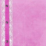 Roze album voor foto's met jeans Stock Foto