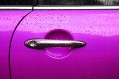 Roze autodeur Stock Afbeeldingen