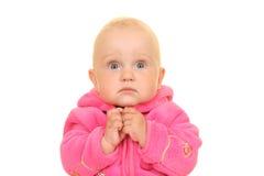 Roze babymeisje Stock Foto's