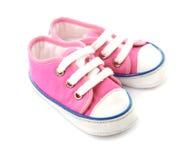 Roze babyschoenen Stock Afbeeldingen