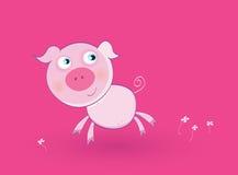 Roze babyvarken royalty-vrije illustratie