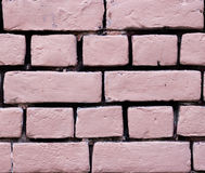 Roze bakstenen muur voor textuur of achtergrond Stock Foto's