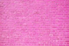 Roze bakstenen muurachtergrond Stock Afbeelding