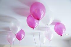 Roze ballon stock foto's