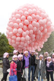 Roze ballons tegen borstkanker Royalty-vrije Stock Afbeelding