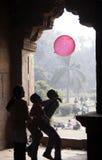 Roze baloon Stock Foto's