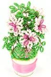 Roze beadwork van de bloem Stock Foto's
