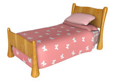 Roze bed Royalty-vrije Stock Afbeeldingen