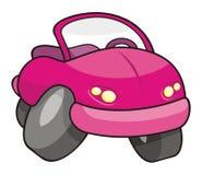 Roze beeldverhaalauto Stock Foto's