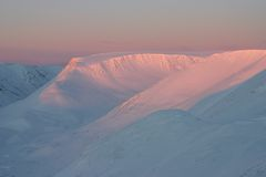 Roze bergen Stock Afbeelding