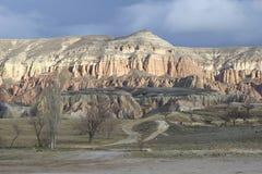 Roze bergketen in de buurt van göreme Cappadocia Royalty-vrije Stock Fotografie