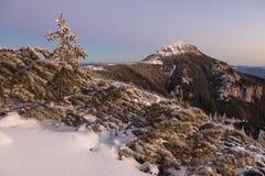 Roze bergzonsopgang Stock Afbeelding