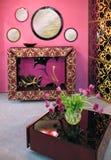 Roze binnenland Stock Foto