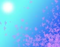 Roze Bladeren bij het Zonlicht royalty-vrije illustratie