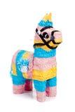 Roze, blauwe en gele burropinata op wit Stock Afbeeldingen