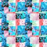 Roze blauwe lapwerkachtergrond stock illustratie