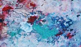Roze blauwe rode zachte mengelingskleuren, het schilderen vlekkenachtergrond, waterverf kleurrijke abstracte achtergrond Royalty-vrije Stock Foto's