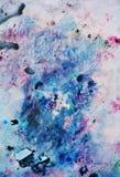 Roze blauwe rode zwarte zachte mengelingskleuren, het schilderen vlekkenachtergrond, waterverf kleurrijke abstracte achtergrond Royalty-vrije Stock Fotografie