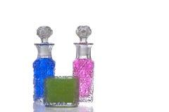 Roze blauwgroene glaskaraf Royalty-vrije Stock Afbeeldingen