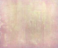 Roze bleke waterverfwas op met de hand gemaakt document Stock Afbeeldingen