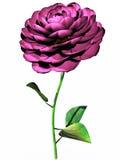Roze bloem in 3d Royalty-vrije Illustratie