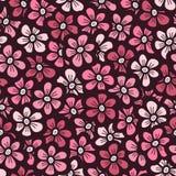 Roze bloem naadloos patroon Royalty-vrije Stock Foto's