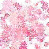 Roze bloemart. Vector Illustratie