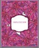 roze bloemen en tekst Royalty-vrije Stock Fotografie