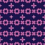 roze bloemen geometrische vector naadloos als achtergrond Stock Afbeelding