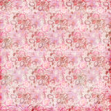 Roze bloemen grungy achtergrond royalty-vrije illustratie