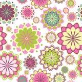 Roze bloemen naadloos patroon Stock Afbeelding