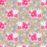 Roze bloemen naadloos patroon Royalty-vrije Stock Foto's