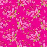 Roze bloemen naadloos patroon Royalty-vrije Stock Afbeelding