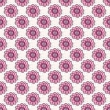 Roze bloemen naadloos patroon Achtergrond van de krabbel de mooie bloesem Hand getrokken behang Royalty-vrije Stock Afbeeldingen