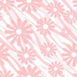 Roze bloemen op backgro van het het leer naadloze patroon van de tijger wilde huid Royalty-vrije Stock Fotografie