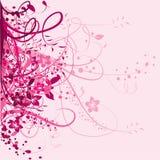Roze bloemenachtergrond Stock Afbeeldingen
