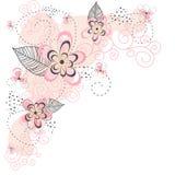 Roze BloemenAchtergrond Royalty-vrije Stock Afbeeldingen