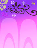 Roze BloemenAchtergrond Stock Afbeelding