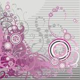 Roze bloemenachtergrond met krul Royalty-vrije Stock Afbeelding
